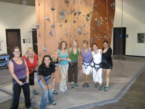 Rock Climbing Mommies Night Out!